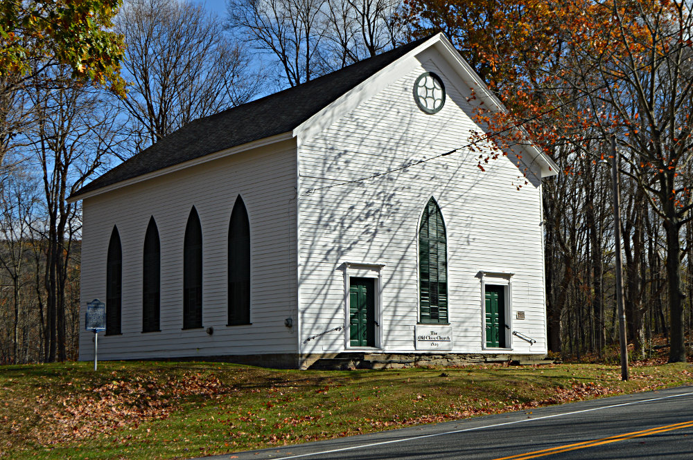 photo of the church from the road